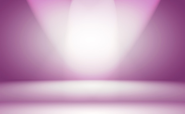 Concept de fond de studio - fond de salle de studio violet dégradé clair vide abstrait pour le produit. fond de studio uni.