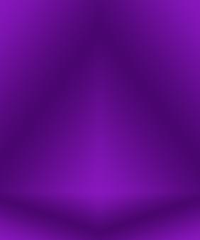 Concept de fond de studio - fond de salle de studio violet dégradé clair vide abstrait pour le produit.