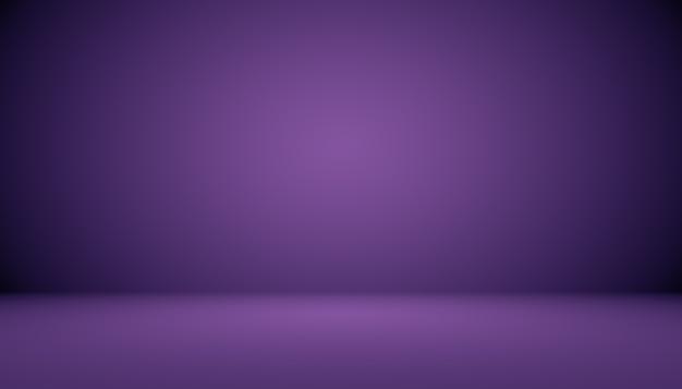 Concept de fond de studio - fond de salle de studio violet dégradé foncé pour le produit.