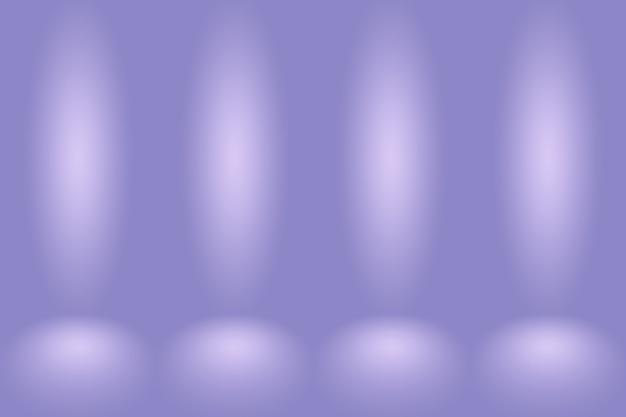 Concept de fond de studio - fond de salle de studio violet dégradé foncé.