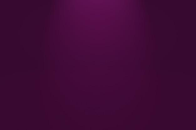 Concept de fond de studio - fond de salle de studio violet dégradé de lumière vide abstrait.