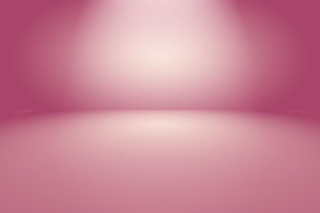 Concept de fond de studio - fond de salle violet dégradé de lumière vide abstrait
