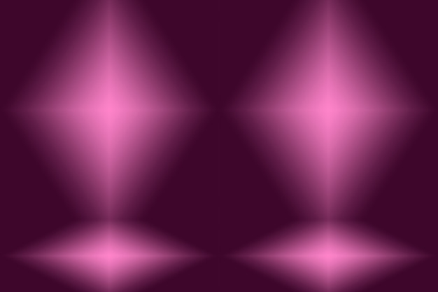 Concept de fond de studio - fond violet dégradé de lumière vide abstrait.
