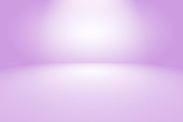 Concept de fond de studio - fond violet dégradé de lumière vide abstrait