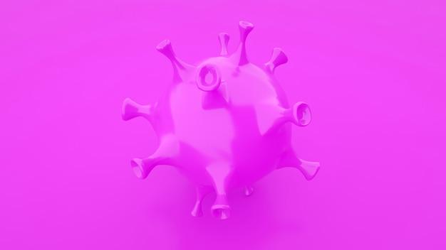 Concept de fond violet de grippe de coronavirus
