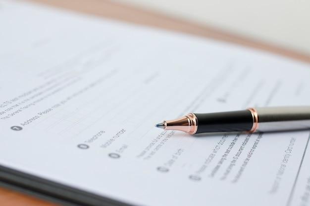 Concept de formulaire de demande pour postuler à un emploi, à un financement, à un prêt, à une hypothèque ou à un formulaire de réclamation