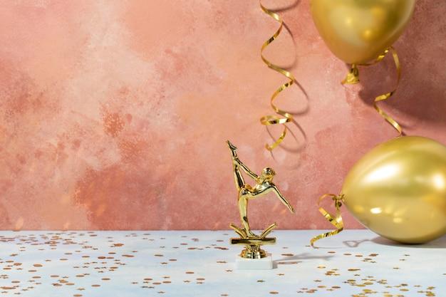 Concept de gagnant du prix de la ballerine d'or