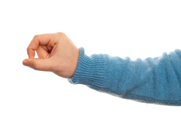 Concept générique avec la main sur fond blanc