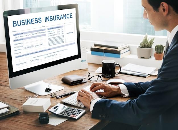 Concept de gestion d'assurance entreprise