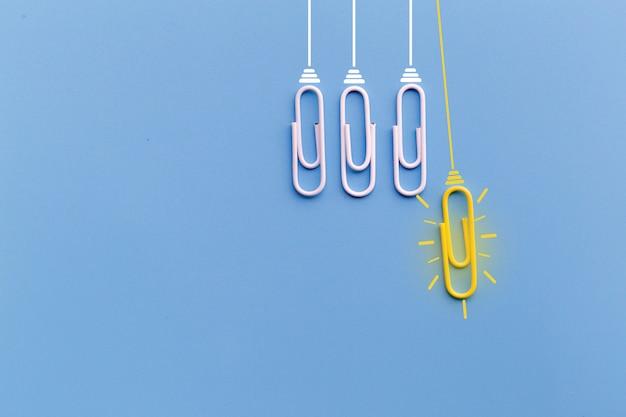 Concept de grandes idées avec un trombone