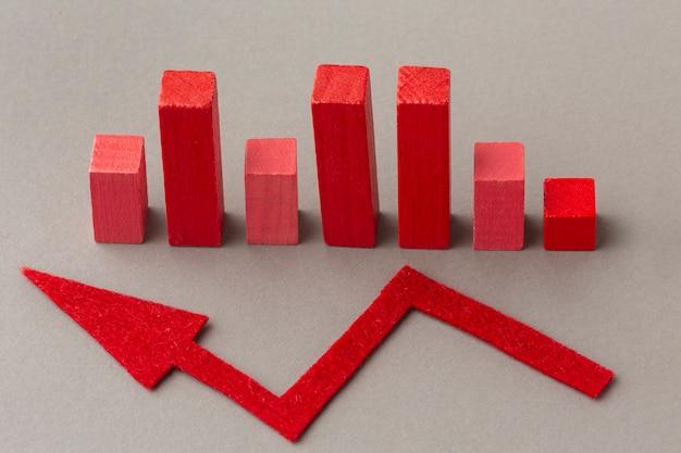 Concept graphique avec blocs et flèche