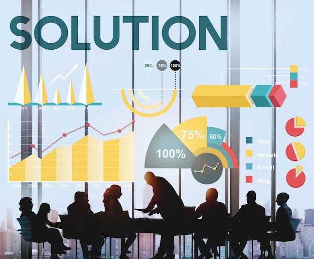 Concept graphique de pourcentage de solution