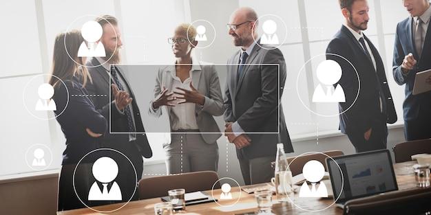 Concept graphique de profession d'affaires de ressources humaines