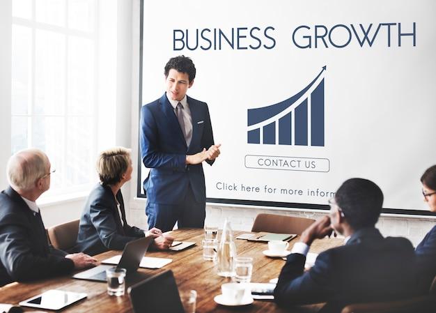 Concept graphique de rapport de réussite commerciale