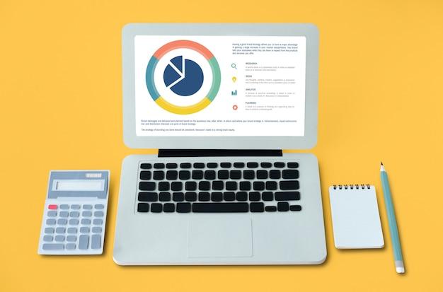 Concept de graphique à secteurs d'analyse de petite entreprise