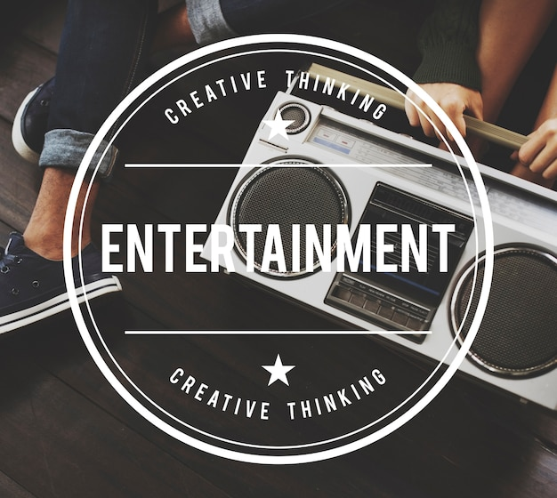 Concept graphique vintage vector entertainment