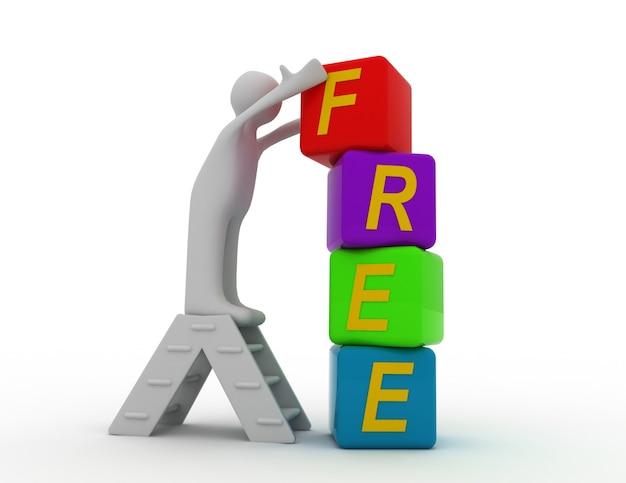 Concept gratuit 3d