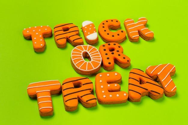 Concept d'halloween avec des cookies
