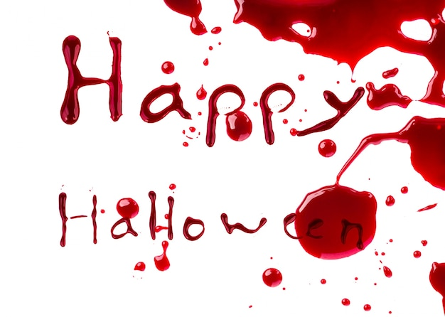 Concept de halloween: égouttement de sang