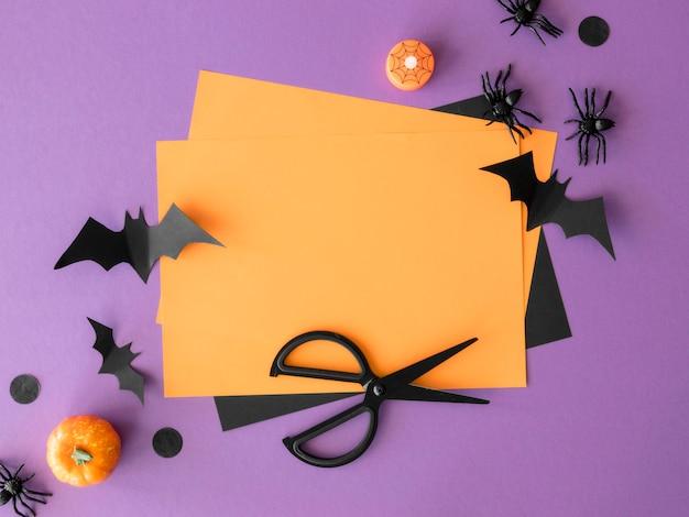 Concept d'halloween mignon avec espace copie