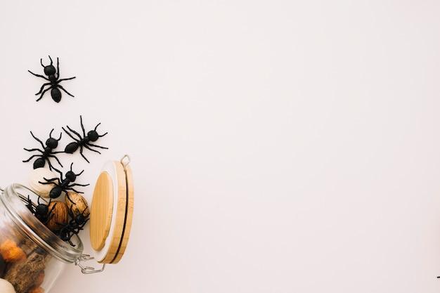 Concept d'halloween avec verre et espace