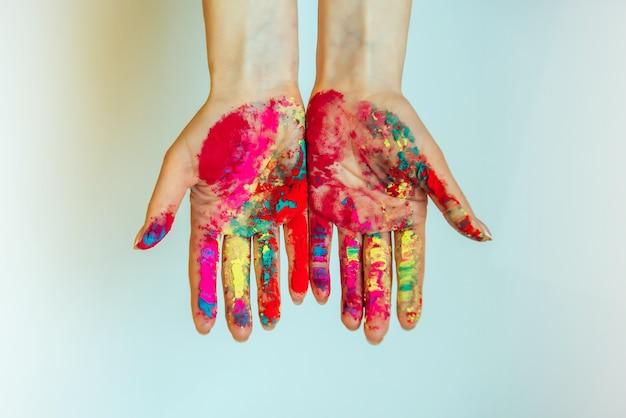 Concept de holi, festival indien des couleurs