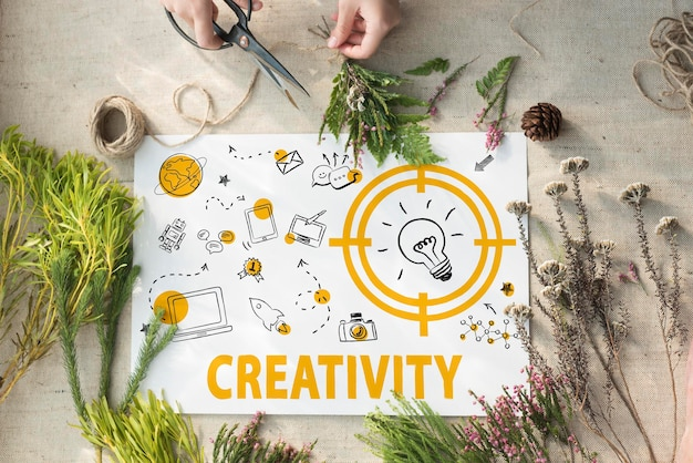 Concept d'icône de message de créativité ampoule technologie