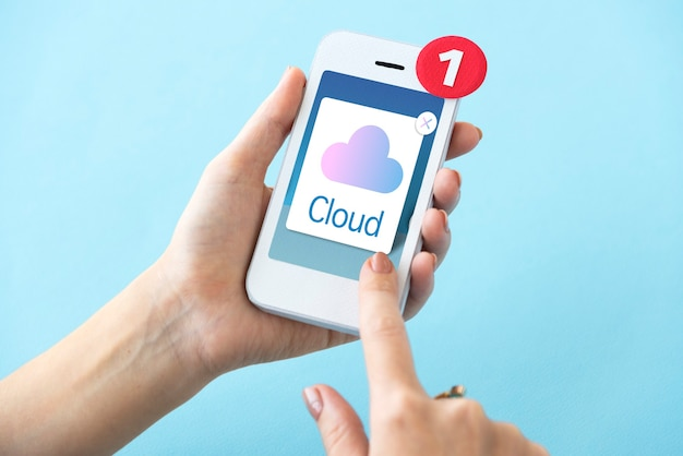 Concept d'icône de stockage cloud computing