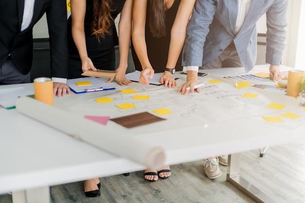 Concept d'idées de créativité avec un atelier de réunion d'entreprise