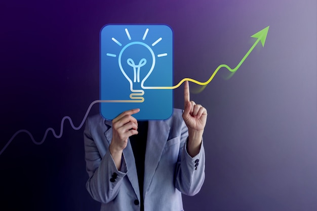 Concept d'idées, de créativité et d'innovation