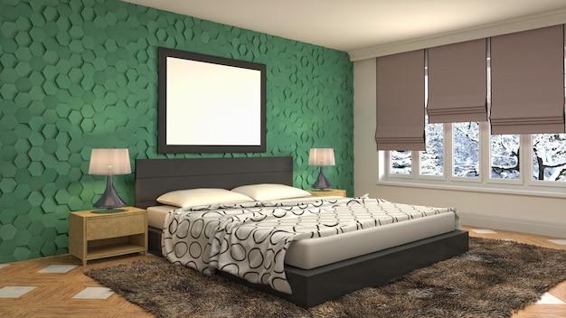 Concept d'illustration de décoration intérieure de chambre à coucher