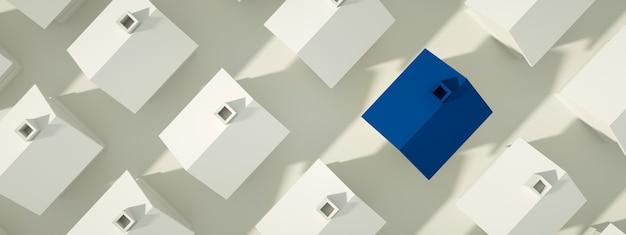 Concept immobilier de nombreuses maisons