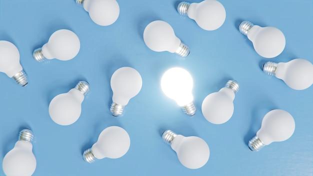 Concept d'individualité parmi l'ampoule
