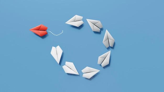 Concept d'individualité parmi les avions en papier