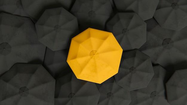 Concept d'individualité parmi les parapluies