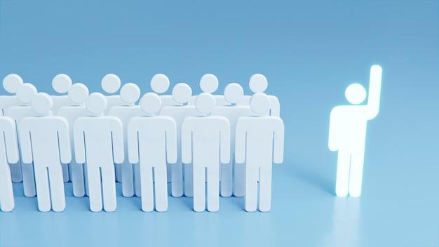 Concept d'individualité parmi les silhouettes