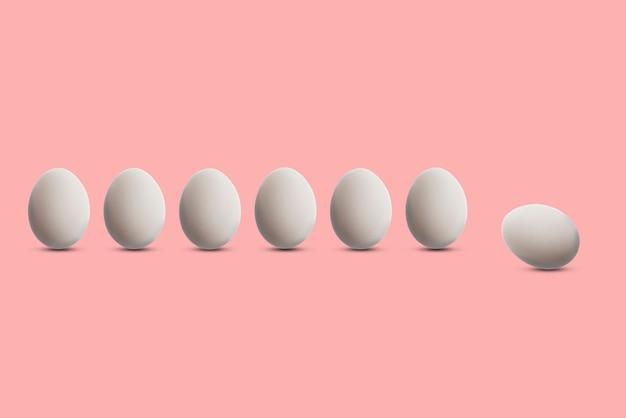 Le concept d'individualité, un seul œuf unique parmi les habituels, idée de différence