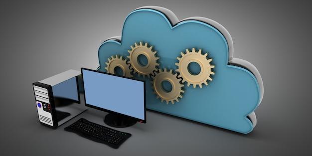 Concept informatique de nuages 3d