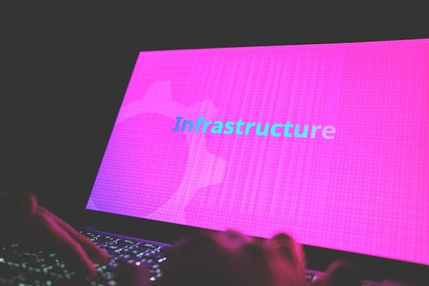 Concept d'infrastructure dans les langages de programmation et le développement d'applications.
