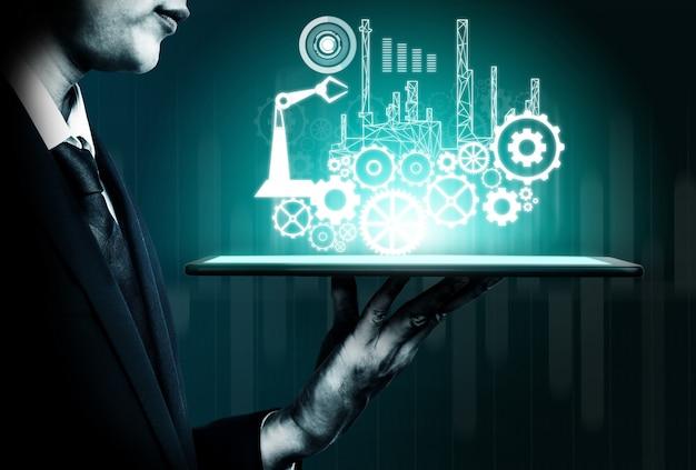 Concept d'ingénierie futuriste de l'industrie 4.0.