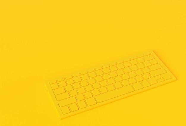 Concept inimal de couleur jaune clavier.