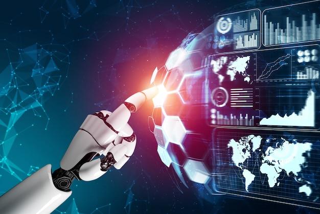 Concept d'intelligence artificielle robot futuriste.