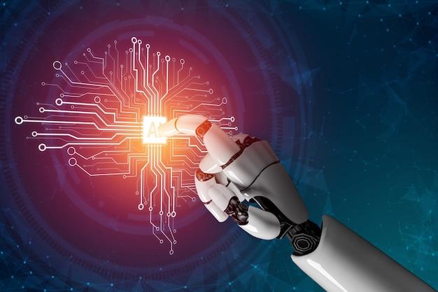 Concept d'intelligence artificielle de robot futuriste