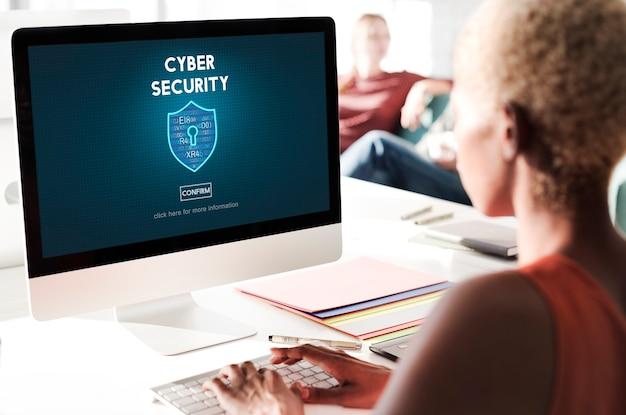 Concept d'interface de pare-feu de protection de cybersécurité