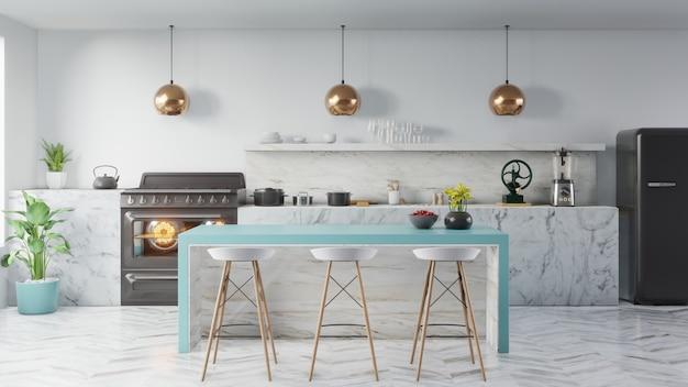 Concept d'intérieur de cuisine.