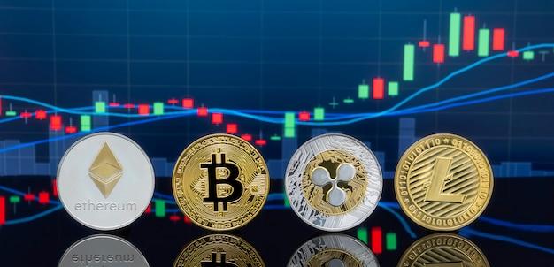 Concept d'investissement bitcoin et crypto-monnaie.