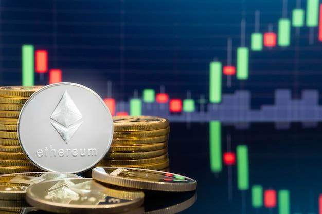 Concept d'investissement ethereum et crypto-monnaie.