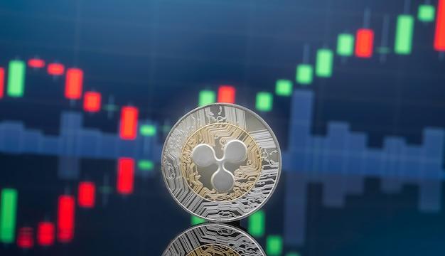 Concept d'investissement d'ondulation et de crypto-monnaie.