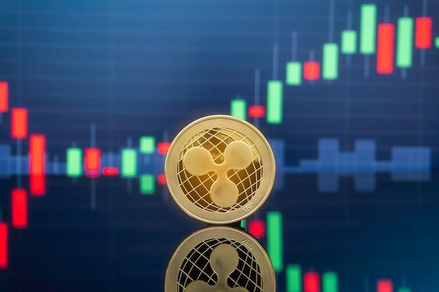 Concept d'investissement par ondulation et crypto-monnaie.
