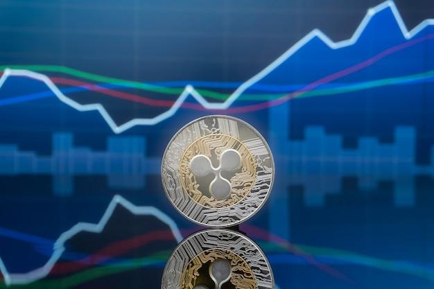 Concept d'investissement ripple et crypto-monnaie.